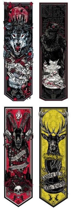 Game of Thrones Banners by Rhys Cooper #gameofthrones #fanart #art