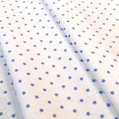 Tissu mini stars 25x160cm fond ivoire avec étoiles bleues