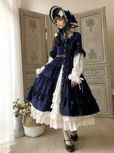 Little Dipper -Classic Mary- Vintage Classic Lolita Open Front OP Dress