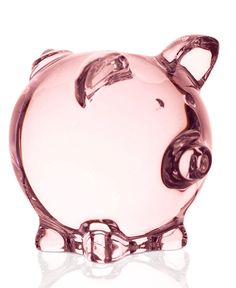 Baccarat Collectible Pink Pig Figurine