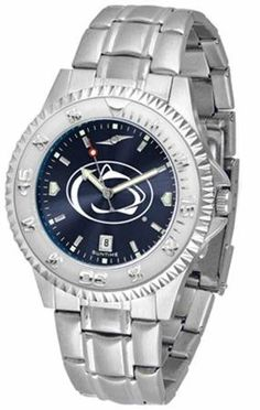 "Penn State Nittany Lions NCAA Anochrome ""Competitor"" Mens Watch (Steel Band) by SunTime. $86.95. Calendar Date Function. Color Coordinated. Rotating Bezel. Showcase the hottest design in watches today! The functional rotating bezel is color-coordinated to compliment your favorite team logo. The Competitor Steel utilizes an attractive and secure stainless steel band. The AnoChrome dial option increases the visual impact of any watch with a stunning radial reflect..."
