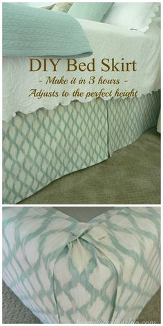 I made this bed skirt for the $32 fabric cost. It was fun, easy, fast and I put it on by myself. No need to remove the mattress and it adjusts to the perfect height!