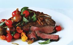 Porterhouse Steak with Pan-Seared Cherry Tomatoes