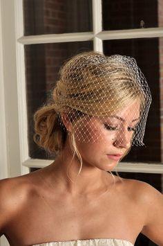 Simply blue bridal www.etsy.com/listing/102972329/wedding-veil-birdcage-veil-with