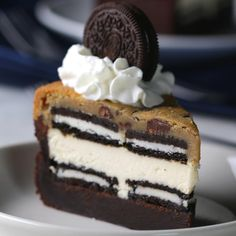 5-Layer Cookie 'box' Brownie Cheesecake Recipe by Tasty