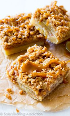 Salted Caramel Apple Pie Bars - A fun and easy take on a classic apple pie!
