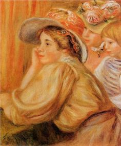 Coco and Two Servants - Pierre-Auguste Renoir