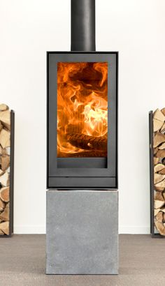 TQH13 - Nestor Martin modern fireplace which can be rotated 360 degrees