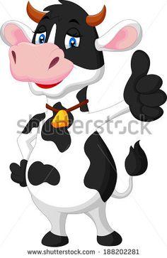Cute Cow Set Illustration vectorielle libre de droits 43143670 : Shutterstock