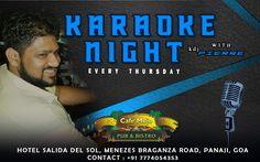 Sing your favorite tunes this Thursday in Karaoke Night with #KdjPierre. Only at Cafe MOJO Pub & Bistro 9pm Onwards. #Pubs #Party #Music #Beer #EatLocal   #Beers #Enjoy #BeerDrinks  #Parties #PartyMusic #GoodTimes  #Dance #Pub #Fun #DrinkLocal #OntheBar  #Drinks #Goa  #OnthePub.