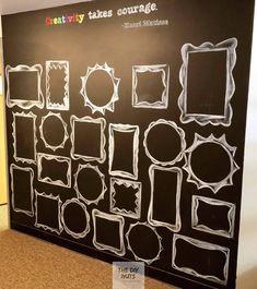 DIY Chalkboard Paint Wall Idea - The DIY Nuts #accentwall #chalkboard #playroom #artprojectsforkids