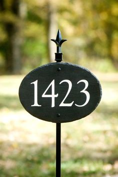 STONE House Numbers Address Plaque / LAWN STAKE by TMichaelStudio, $69.00
