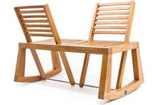 Rocking Chair Loveseats - Social People will Enjoy the Tete-a-Tete Chairs by Chloe de la Chaise (GALLERY)