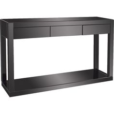 Featuring A Clean Lined Design In Black, This Sleek Console Table Offers  Modern Appeal