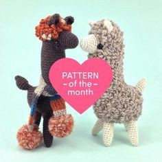 Ludwig The Llama Crochet Pattern by Irene Strange. Cute Amigurumi toys your little ones will love!