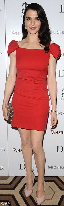 Rachel Weisz in red, a great color for her.