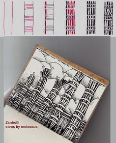 Zanholli-tangle pattern by molossus, who says Life Imitates Doodles, via Flickr