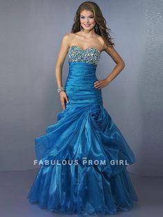 Trumpet / Mermaid Sweetheart  Rhinestone Sleeveless Floor-length Organza Prom Dresses / Evening Dresses