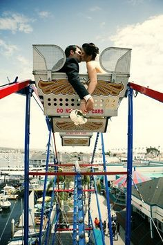 Love takes u higher,even if that means on a giant wheel