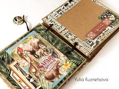 Adventure Box & Mini Album Safari Adventure, Travel Kits, Graphic 45, Brand Ambassador, Mini Albums, Paper Crafts, Bullet Journal, Box, Minis