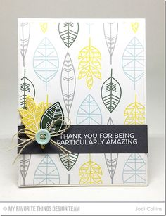 Geometric Greenery Stamp Set and Die-namics, Blueprints 1 Die-namics, Blueprints 2 Die-namics - Jodi Collins  #mftstamps