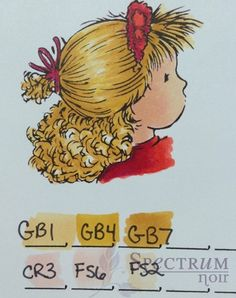 Blonde Hair Color Combinations - Spectrum Noir Craft Pens & Markers ...