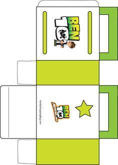 Free Ben 10 Favor Box Papercraft printable #free
