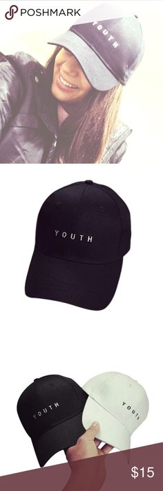 ⬛️TRENDY youth BASEBALL CAP⬛️ Youthful look with this YOUTH hat! Rock it with any outfit this summer! NWOT Accessories Hats