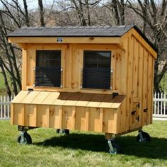 Craftsman Coop chickens) from My Pet Chicken Chicken Coop On Wheels, Chicken Coop Kit, My Pet Chicken, Portable Chicken Coop, Chicken Coup, Chicken Coop Designs, Building A Chicken Coop, Chicken Eggs, Pet Chickens