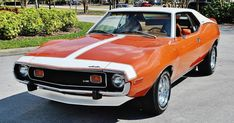 Simply the best 1974 AMC Javelin coupe 360 restored and spectacular loaded. Amc Gremlin, Amc Javelin, 70s Muscle Cars, American Muscle Cars, Ford Mustang Boss, Mustang Cars, American Classic Cars, American Motors, Pony Car