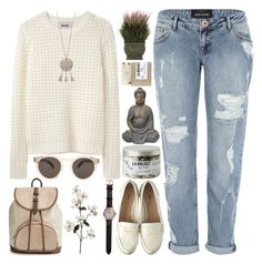 """For @thedeargooddead (1/5)"" by raelee-xoxo ❤ liked on Polyvore featuring moda, River Island, Nearly Natural, L:A Bruket, Miu Miu, Shinola, TOMS, Illesteva, comments y raeleespenguin"