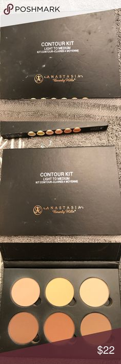 Anastasia contour pallet Used once and tones are too dark for my skin tone. Excellent condition! Makeup Face Powder
