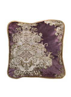 A Loja do Gato Preto | Capa de Almofada Isadora Medalhões Púrpura #alojadogatopreto