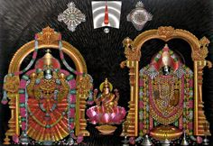 Lord Balaji and Mahalaxmi Devi from Tirupati