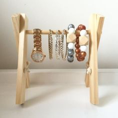 Mini jewellery display stand bracelet by Hopeandjadehandmade