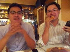 30 July 2013 - impromptu dinner with JR and Imman at Rocketroom