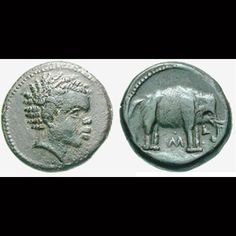 HANNIBAL Hannibal of Carthage — one of the greatest military strategists in history is often depicted with much… narrower features. But these coins depicting Hannibal and his famous army of elephants leave little doubt in the minds of many historians of his African ancestry.
