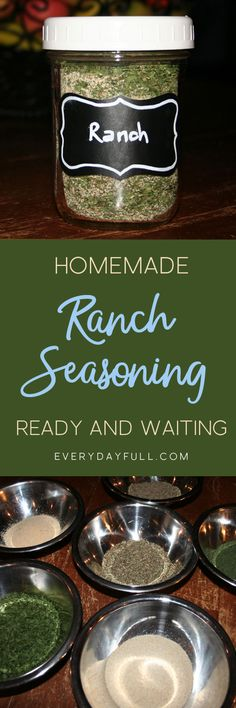 DIY RANCH SEASONING, DIP AND DRESSING RECIPE: Doesn't everything taste better with ranch? Salad! Carrots! Celery! Pizza!… Cake!…OK, so maybe not cake, but that may be the only thing! Dress up your salad, make a delicious dip for crackers and veggies or se