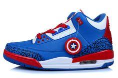 88113d053186 Air Jordan 3 Captain America Custom First Air Jordans