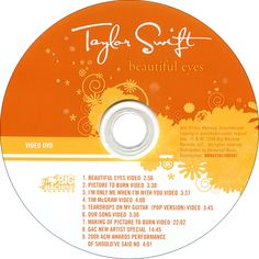 Caratula Dvd de Taylor Swift - Beautiful Eyes (Limited Edition)