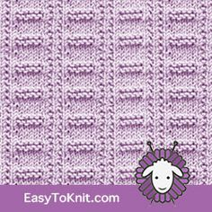 The stitch can be used Afghan, Blanket, Bag, Cardigan and more. Knitted Washcloth Patterns, Knitted Washcloths, Knit Dishcloth, Knitted Bags, Loom Knitting Stitches, Easy Knitting, Knitting Yarn, Free Knitting Patterns Uk, Crochet Patterns