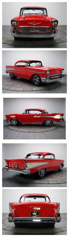 Chevrolet Bel Air 1957 #ClassicCars #CTins #Chevy