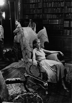 """Large Wing Chair...Grace Kelly  """"High Society"""", 1956......Uploaded By www.1stand2ndtimearound.etsy.com"""