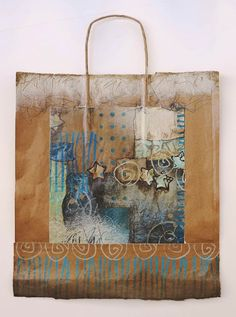 Collage art of Laura Lein-Svencner: Brown Bag Art