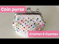 Monedero a crochet con piedras multicolor - YouTube