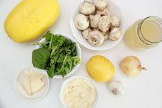 Recipe: Skinny Creamy Garlic Shrimp with Spaghetti Squash - Smashed Peas & Carrots Shrimp Spaghetti, Garlic Spaghetti, Cheese Spaghetti, Spaghetti Squash, Shrimp Stuffed Mushrooms, Garlic Shrimp, Zucchini Noodles, Keto Recipes, Carrots