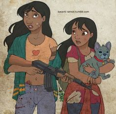 Disney meets The Walking Dead - Lilo & Stitch