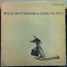 Billy Butterfield Goes toN.Y.U., label: Essex 402 (1955) Design: Burt Goldblatt.
