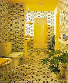 Insanely groovy 60s bathroom