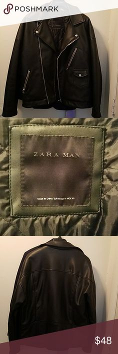 Zara Men Motorcycle Jacket (M) Size Medium. Worn fewer than ten times. No discernable signs of wear. Zara Jackets & Coats
